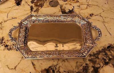 German 800 Silver Antique Ornate Tray With Handles Exqisite And Heavy Gorgeous