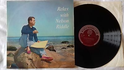 RELAX WITH NELSON RIDDLE vinyl LP 1962 World record Club TP199 Love Letters