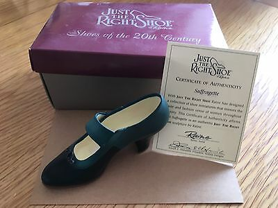 """Just The Right Shoe Collection""by Raine  New in Box  Suffragette Item 25041"
