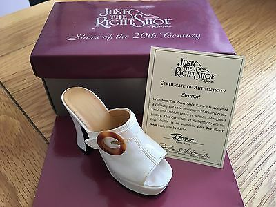"""Just The Right Shoe Collection""by Raine  New in Box  Struttin Item 25047"