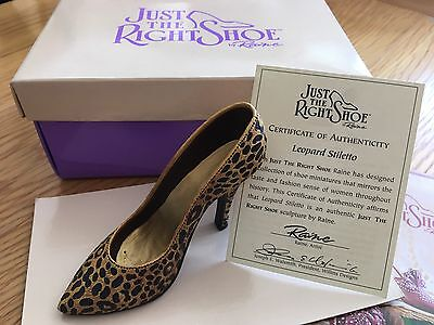 """Just The Right Shoe Collection""by Raine  New in Box Leopard Stiletto Item 25017"