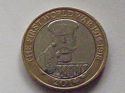 VERY Rare 2014 First World War £2 pound coin multiple Royal Mint Errors