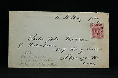 Finland: 1883 #29 Cover to the USA, Single Use, Nice Back Stamps