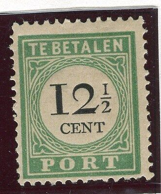 NETHERLANDS CURACAO;  1892 early Postage Due issue Mint hinged 12.5c. value