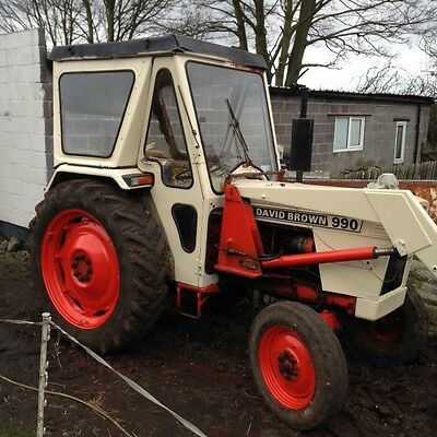 david brown 990 tractor two wheel drive with front loader