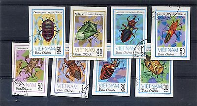VIET NAM 1982 - Set of 8 Imperf. - INSECTS - MNH