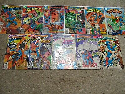 11 DC Superman + Other Superman Mixed Lot Of Bronze Age Comic books