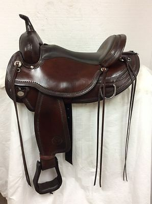"Circle Y Used 17"" #1554 Omaha Flex Trail Saddle--Full Quarter Horse Bar."