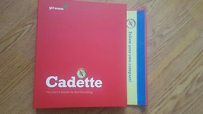 Girl Scouts Red Cadette Guide to Girl Scouting Handbook Binder