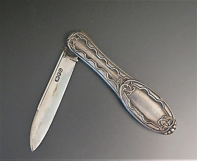 Antique GORHAM Sterling Silver Fruit Pocket Knife 1855 1860