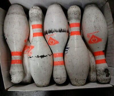 Amf bowling pins lot of 5 used