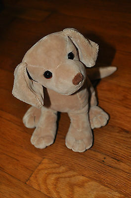 "Rare FAO Schwartz Fifth Avenue 9"" Plush Stuffed Puppy Dog bean bag"