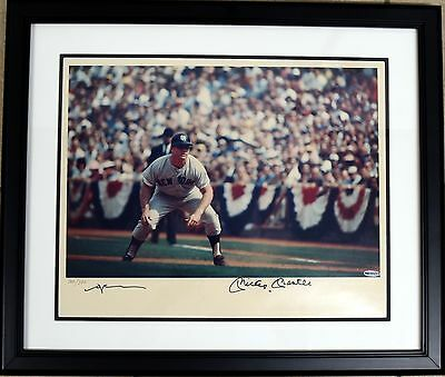 Mickey Mantle Signed Auto Autograph Neil Lefer Display Uda Upper Deck
