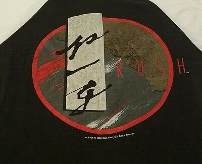 Vintage RUSH Grace Under Pressure Tour 1984 jersey t shirt M Medium 80s