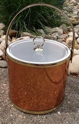 Vintage Mid Century Copper Ice Bucket With Clear Lid 1970's