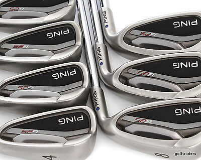 Ping G25 Blue Dot Irons 4-Pw Steel Cfs Regular Flex #d6000