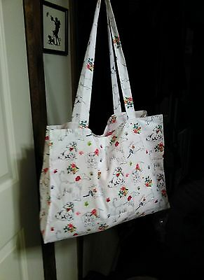 Dog Market Bag With​ Afghan Hounds, Scotties, Beagles & Dachshunds  100% Cotton​