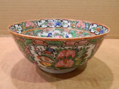 Small Famille Rose China Serving Bowl Hand Painted Antique