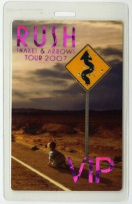 Rush authentic 2007 concert Laminated Backstage Pass Snakes & Arrows Tour
