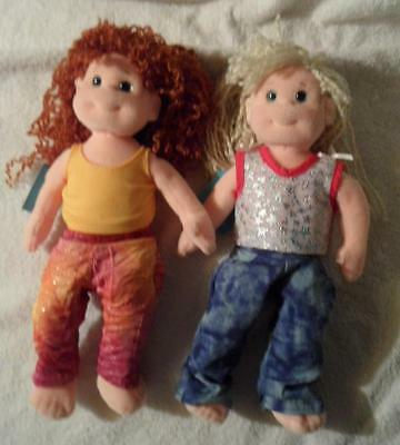 """set of 2 TY Beanie Boppers 12"""" dolls 2001 Giggly Gracie& Sweet Sally /tags VGC"""