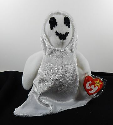 Retired Sheets The Ghost - Ty Beanie Baby  MWMT Halloween
