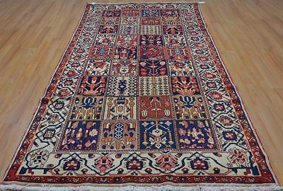 4'9x9'9 Authentic S Antique Persian Tribal Bakhtiari Hand Knotted Wool Area Rug