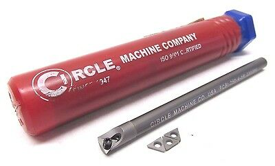 "New! Circle 1/4"" Solid Carbide Indexable Insert Boring Bar - #fcbi-250-4-5R"