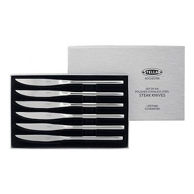 Stellar BL25 Steak Knives, Silver, Set of 6