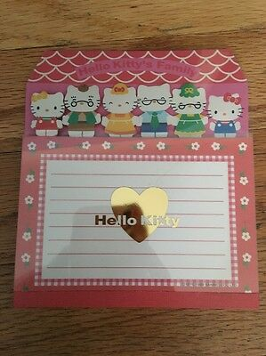 Vintage Hello Kitty And Family Note Pad Sanrio 1999 Mimmy Kitty George Mary