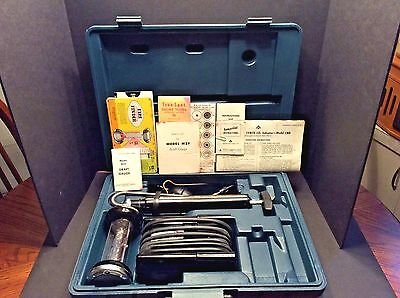 Vintage Bacharach Combustion Test Kit 10-5022 Draft Gauge Fyrite CO2 Indicator