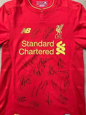 Liverpool  football club Shirt Signed by all the players 2016- 2017