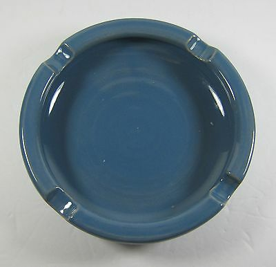 Vintage Blue Medalta Pottery Ashtray