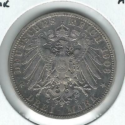 Germany Prussia 3 Mark 1908-A VF+