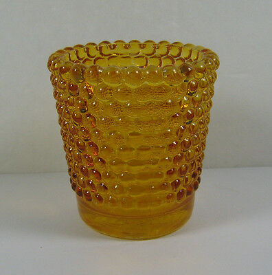 """Vintage Amber Yellow Depression Glass Votive Cup Candle Holder 2 1/2"""""""