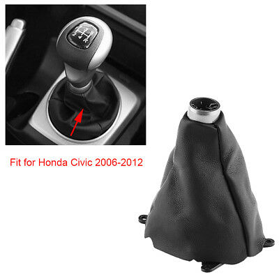 Car Manual Gear Shift Shifter Boot Cover Replacement for Honda Civic 2006-2011