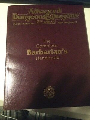 Advanced Dungeons & dragons 2nd Edition Complete Barbarian's Handbook