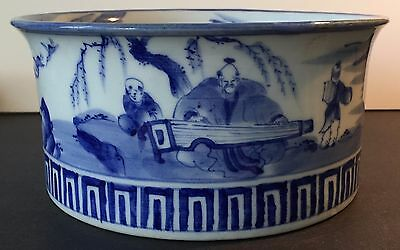 ANTIQUE JAPANESE BLUE AND WHITE SETO PORCELAIN BOWL, DAI NIPPON (1900's)