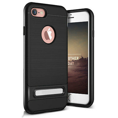 Black Hybrid Shockproof Rubber Hard Stand Case Cover Stand iPhone 6 Plus 6s Plus