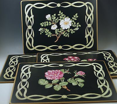 Tiffany Sybil Connolly Set Of 4 Placemats Lady Clare Mrs. Delany's Flowers Mib