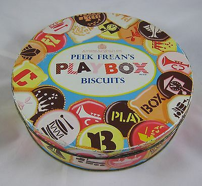 Vintage Peek Frean Collectible Playbox Biscuit Tin