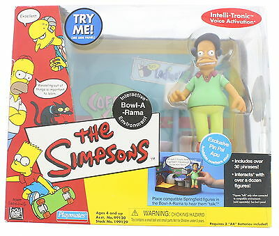 New In Box PLAYMATES The Simpsons Apu Interactive Bowl-A-Rama  Environment