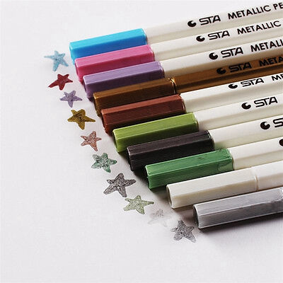 Watercolor Painting Pen Brushes Artist Sketch Drawing Marker Pens 10Color