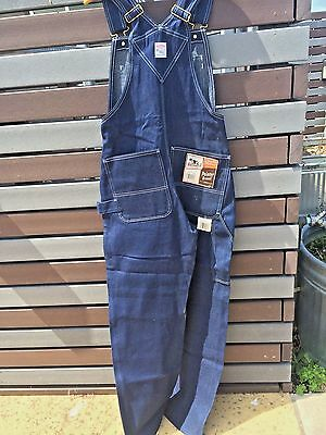 Vintage  POINTER BRAND OVERALLS 30Wx32L Bib Carpenter  NEW Old Stock with Tags!