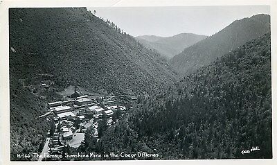 Id Coeur D'alenes / The Famous Sunshine Mine / Rppc
