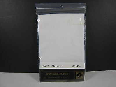 1 Package Zweigart 28 Count White Cross Stitch Fabric