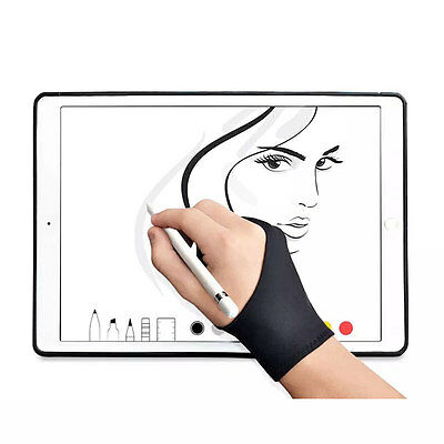 Artist Design Anti Fouling Two Fingers Glove For Wacom Tablet Drawing