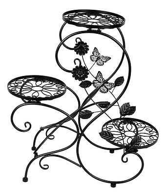 3 Tier Metal Plant Stand Flower Pot Display Holder Rack Home Garden Decoration