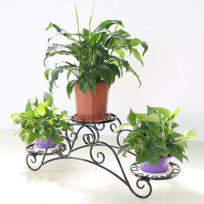 Arch Metal Potted Garden Patio Plant Pot Display Holder Rack Flower Stand Shelf