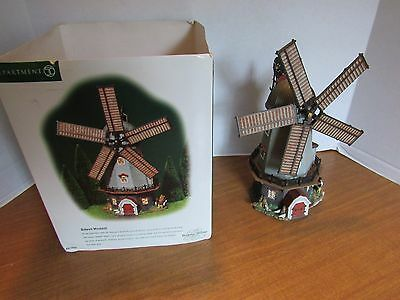 Dept 56 Dickens Village Bidwell Windmill In Good Working Condition # 56.58489