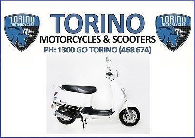 BRAND NEW 2018 TORINO FAMOSA 125cc LEARNER LEGAL SCOOTER WHITE –$2,690 RIDE-AWAY